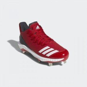 adidas Men's Icon Bounce Metal Baseball Cleats Red